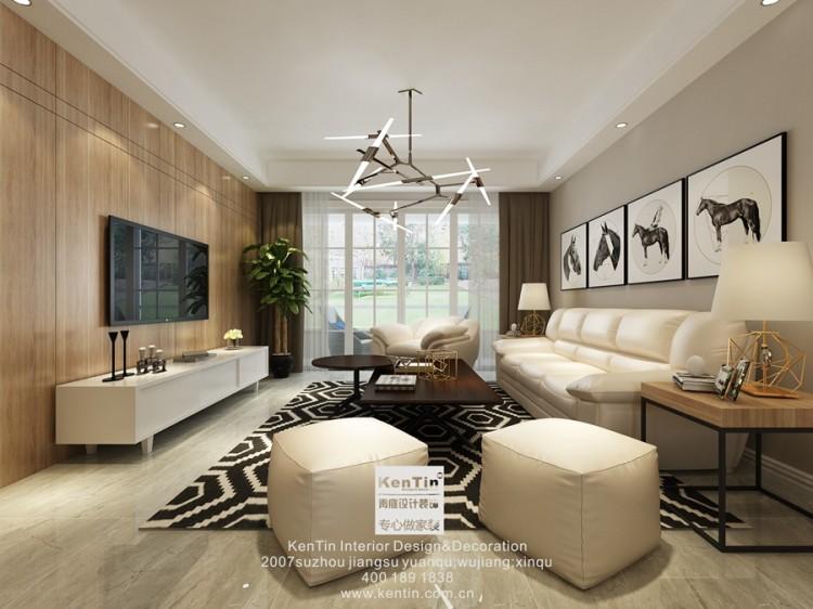 云庭城市中心现代简约四居室装修效果图