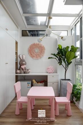 愉景湾现代轻奢混搭风格复式书房装修实景案例
