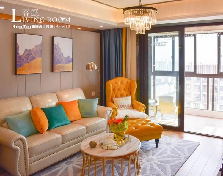 浦湾公馆现代轻奢二居室装修实景案例
