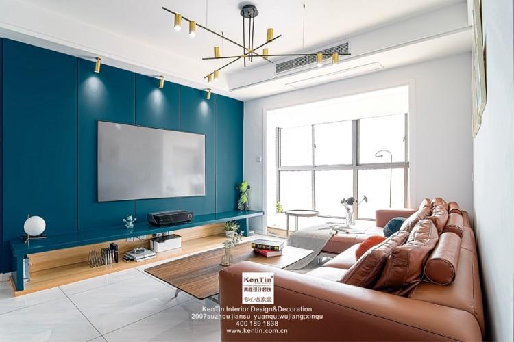 九龙仓风华里现代简约三居室装修实景案例
