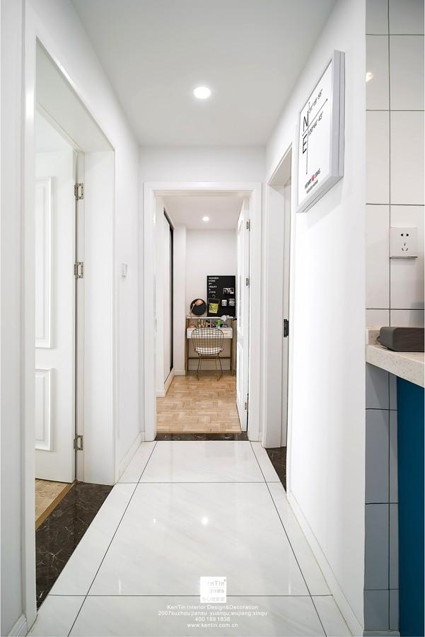 九龙仓风华里现代简约三居室过道装修实景案例