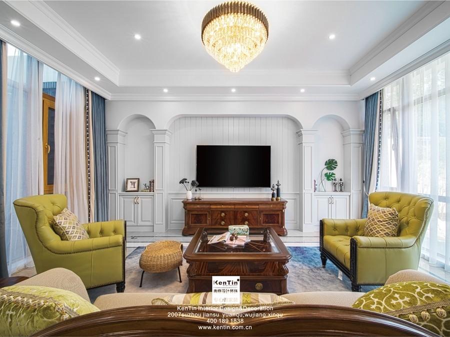 冠南苑现代美式别墅装修实景案例