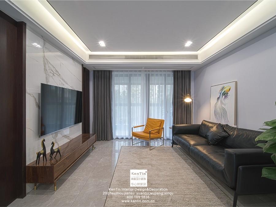 佳兆业悦峰现代简约三居室装修实景案例