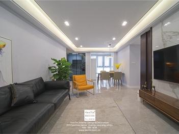 佳兆业悦峰现代简约四居室装修实景案例