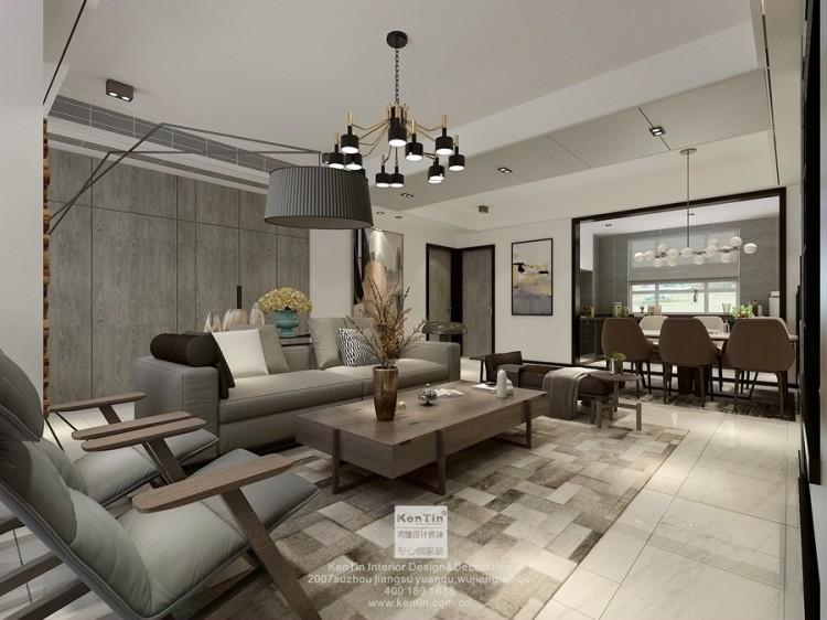 金地名悦现代简约三居室装修效果图