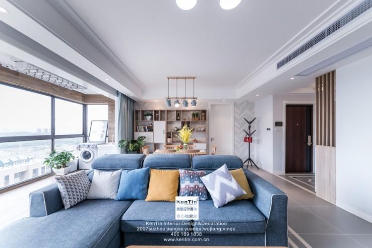 金辉尊域雅苑北欧风格三居室装修实景案例