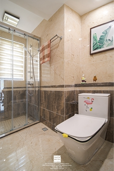 太阳城美式轻奢三居室装修实景案例