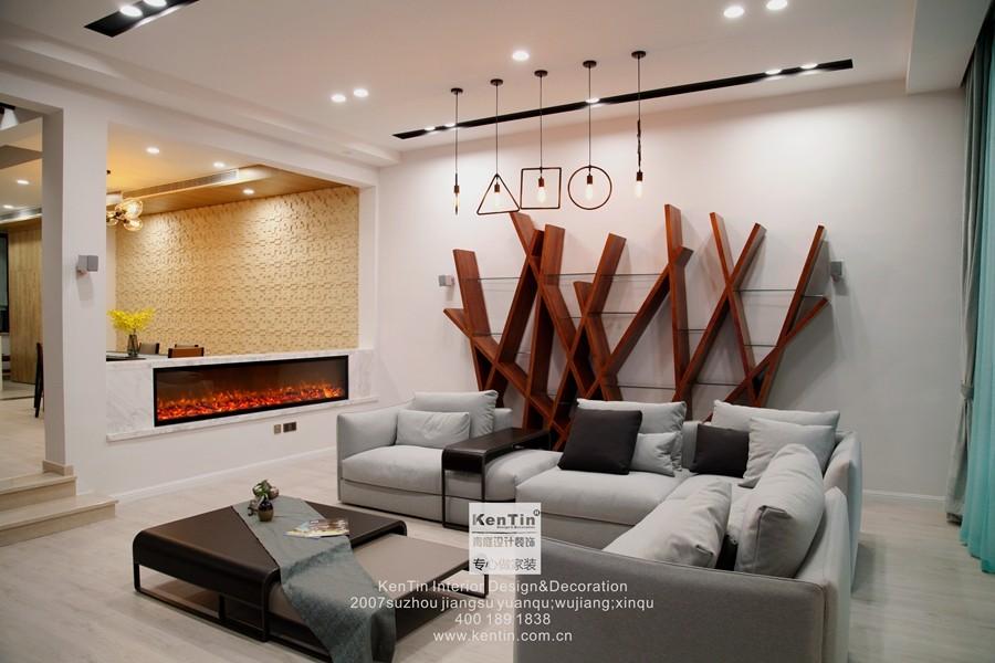 璞缇墅台式风格别墅客厅装修实景图
