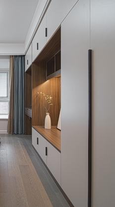 碧堤雅苑现代简约四居室装修实景案例