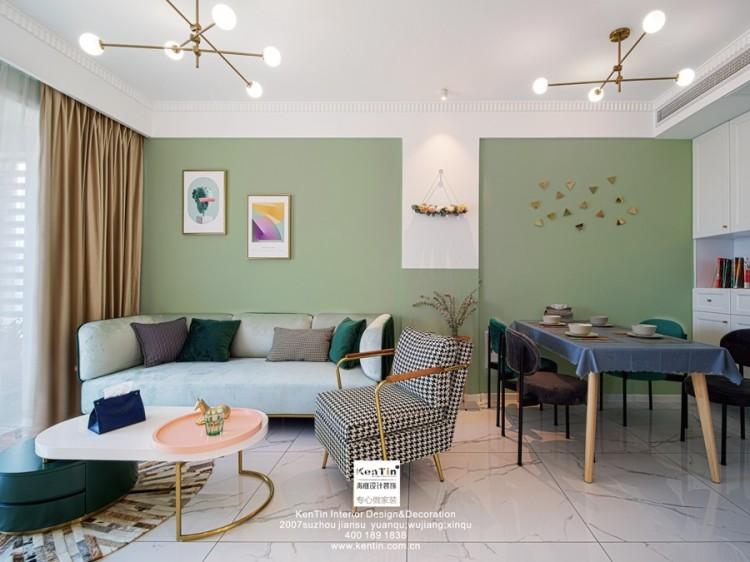 苏胥湾现代轻奢风格二居室装修实景案例