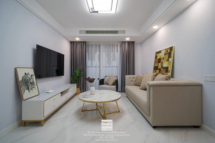 海亮长桥府现代简约风格三居室装修实景案例