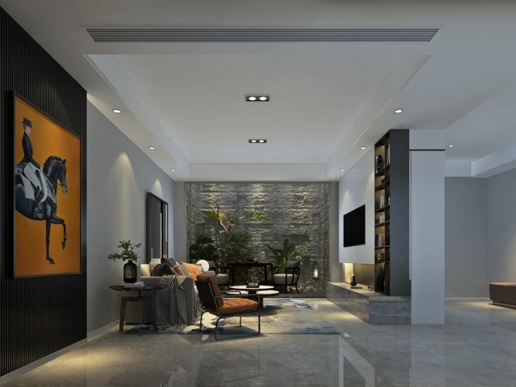 金兰尚院现代风格三居室装修效果图