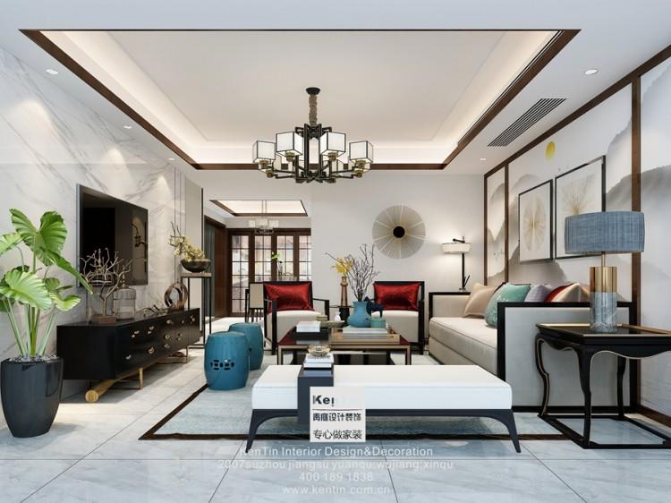 南山维拉新中式四居室装修效果图