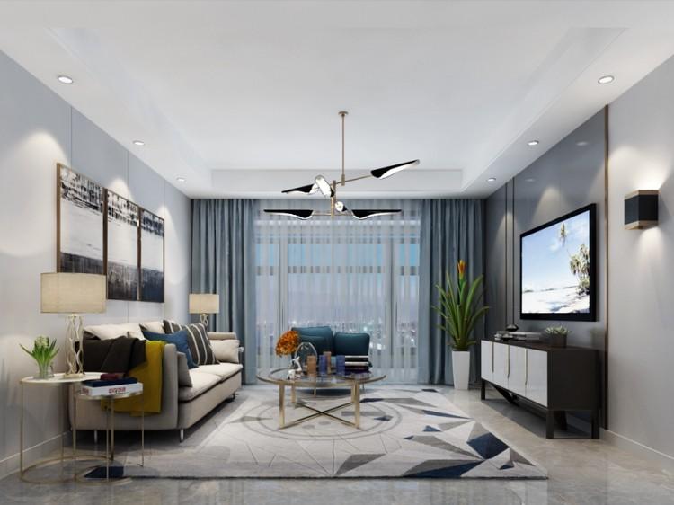 龙湖时代天街现代三居室装修效果图