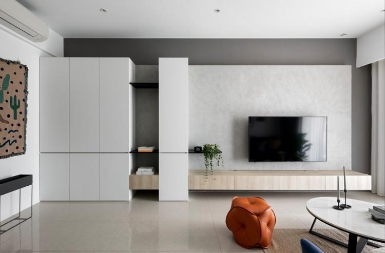 现代简约风格二居室装修效果图