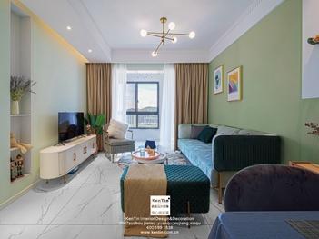 苏胥湾现代轻奢风格三居室装修实景案例