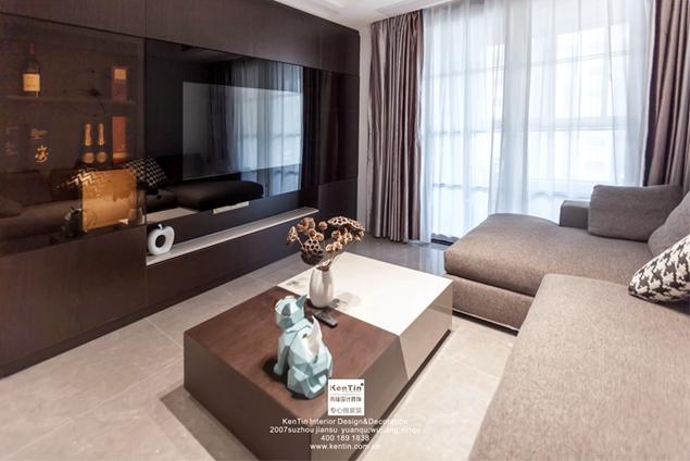 万科碧桂园现代轻奢风格复式装修实景案例