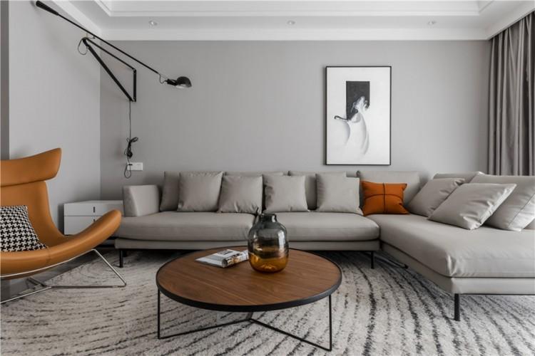 现代简约两居室装修效果图