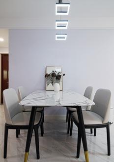 海亮长桥府现代简约风格四居室装修实景案例
