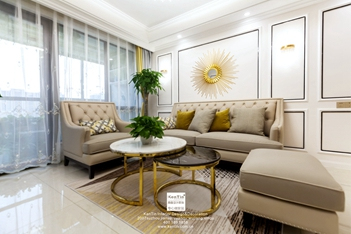 枫华紫园欧式轻奢风格两居室装修实景案例