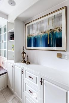 金地名悦简欧风格三居室装修实景案例