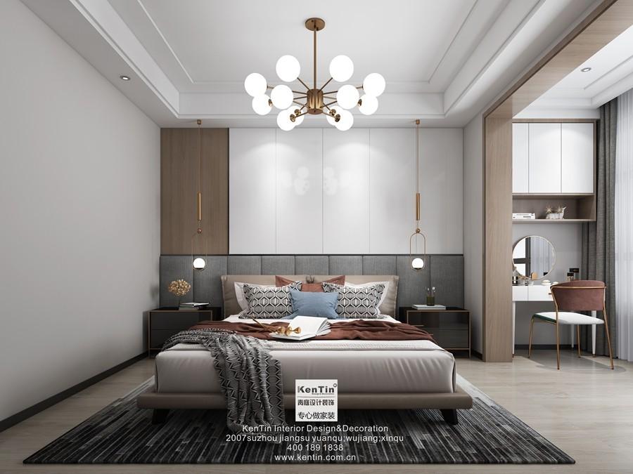 姑苏名著现代简约风格三居室卧室装修效果图