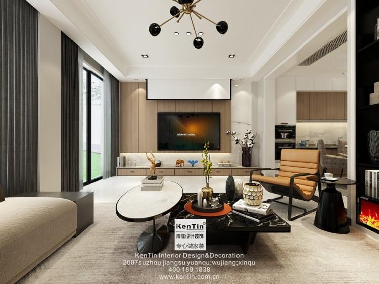 仰山墅现代风格别墅客厅装修效果图