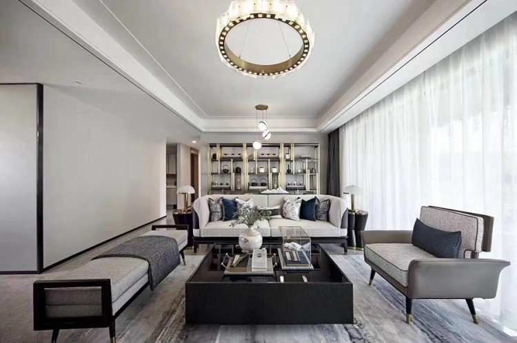 现代风格两居室客厅装修效果图