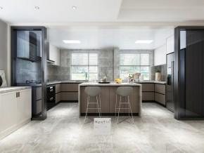 华润金悦湾现代简约风格复式厨房装修效果图