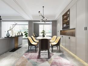 华润金悦湾现代简约风格复式餐厅装修效果图