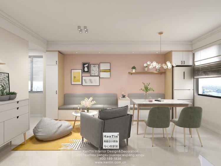 平安苑北欧风格二居室装修效果图