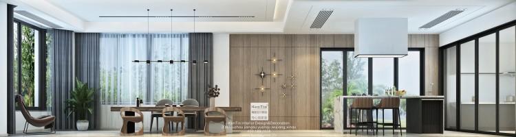 东山景园现代简约风格别墅装修效果图
