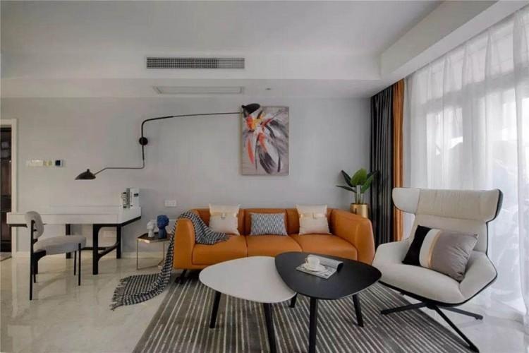 北欧风格三居室客厅装修实景案例