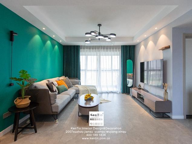 水漾花城三室一厅装修实景案例