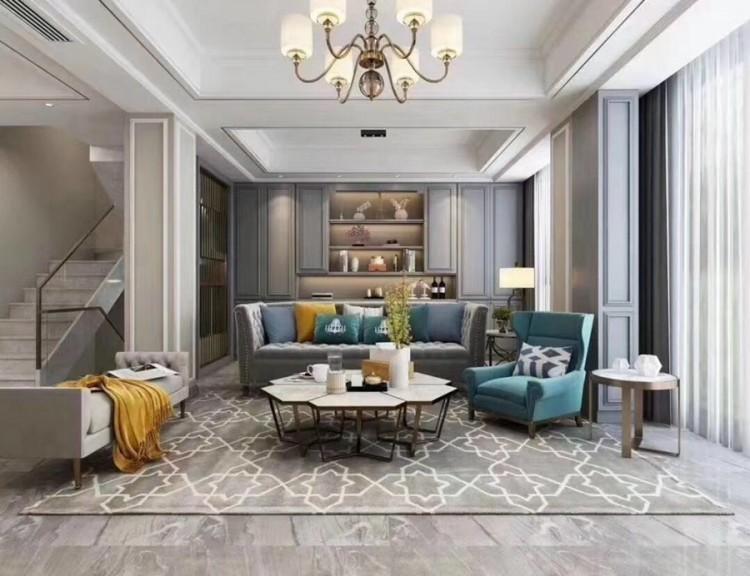 简美风格别墅客厅装修实景案例