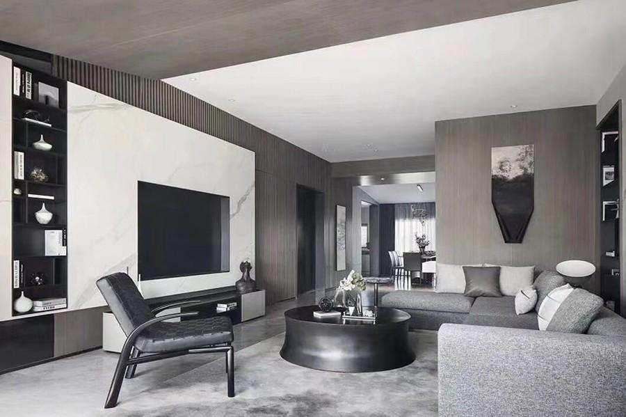 现代简约风格三居室装修实景案例