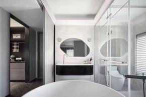 现代简约风格三居室卫生间装修实景案例