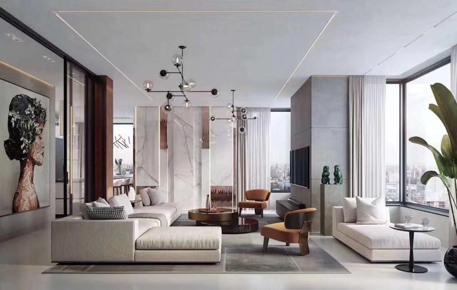 现代风格三居室装修实景案例