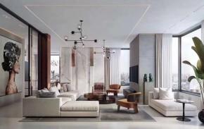 现代风格三居室客厅装修实景案例