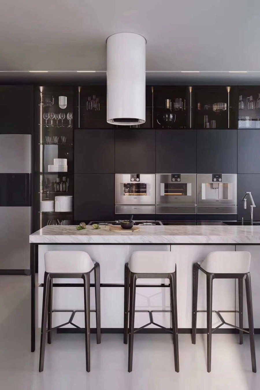 现代风格三居室餐厅装修实景案例