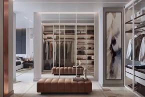 现代风格三居室卧室装修实景案例