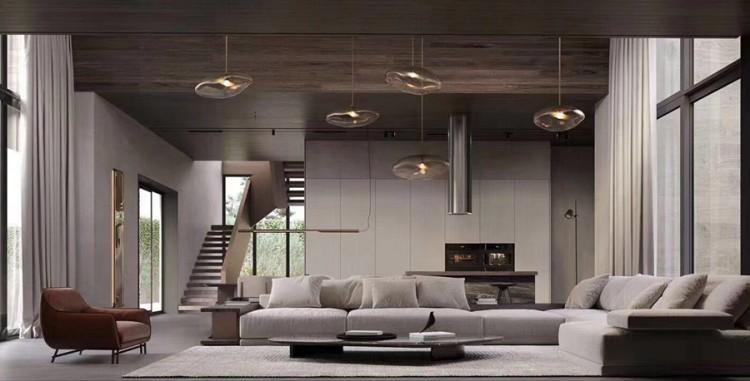 现代风格别墅客厅装修实景案例