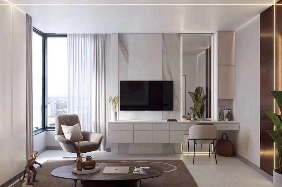 现代风格三居室书房装修实景案例