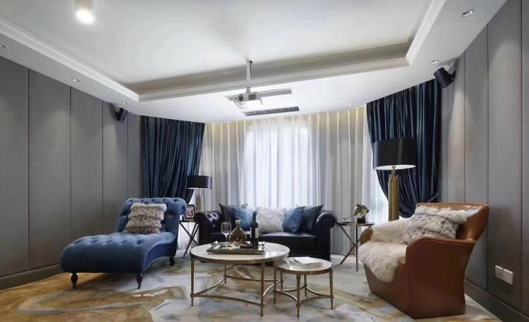 法式别墅客厅装修实景案例