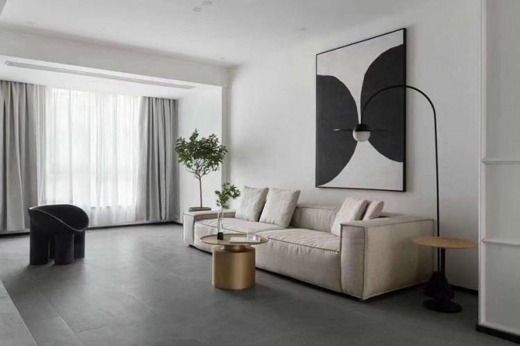 现代简约风格客厅装修实景案例