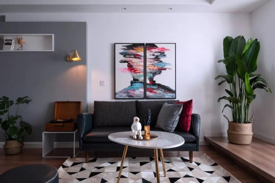 现代简约风格三居室效果图