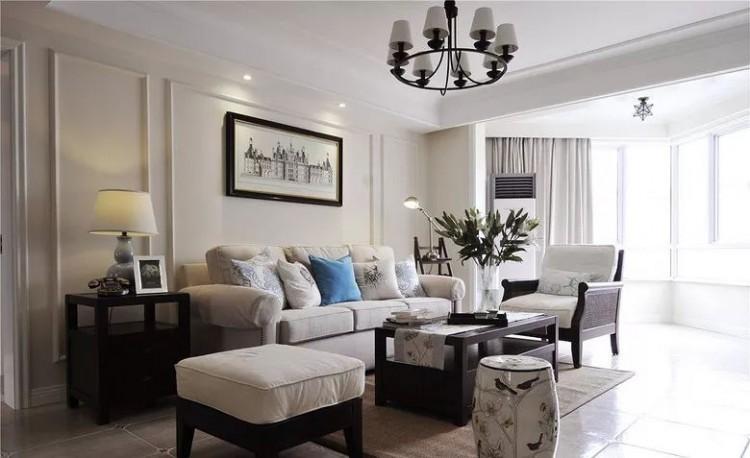 现代美式风三居室效果图