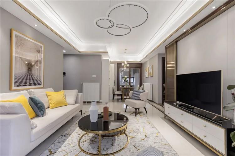 现代轻奢风格两居室效果图