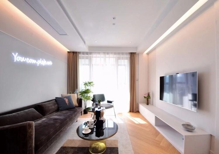 现代风格两居室效果图