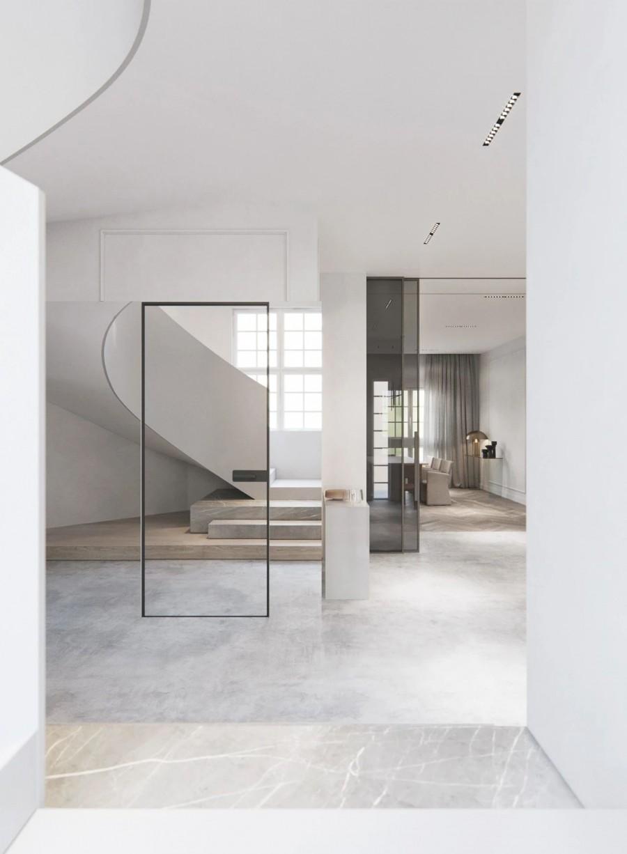 现代风格三居室效果图